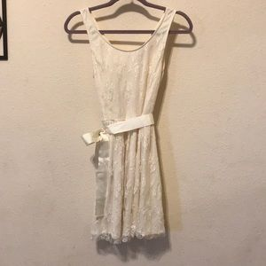 Cream lace, medium, forever 21 dress.